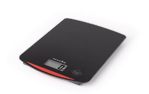 Hanson Balance de cuisine électronique en verre Noir 10 kg