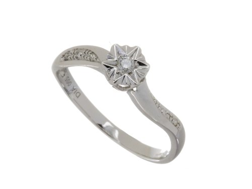 Ladies' 9ct White Gold Diamond Accent Ring