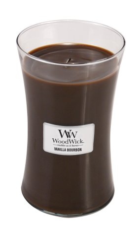 Woodwick Candle Vanilla Bourbon Large Jar