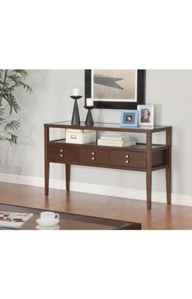 Image of Coaster Company La Vista Contemporary Console Table With Beveled Glass (B007B72OPY)