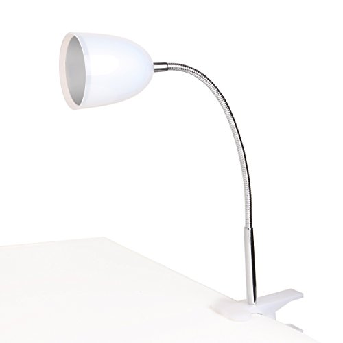 Black Friday Promotion! E3L 5 W Flexible & Swivel Neck Clip On Eye Protection Led Table Desk Lamp Reading Light- Usb Light, Bbq Grill Light, White