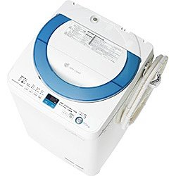 シャープ 7.0kg 全自動洗濯機 ブルー系SHARP 穴なし槽カビぎらい ES-GE70N-A