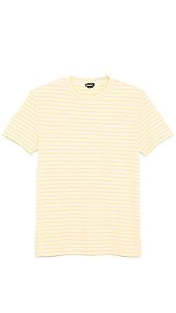 Steven Alan Mens Classic Pocket T-Shirt, Ecru/Yellow, X-Large