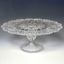 CRYSTAL GIFTWARE ROYALTY CAKE PLATE (13 Pedestal Cake Plate compare prices)