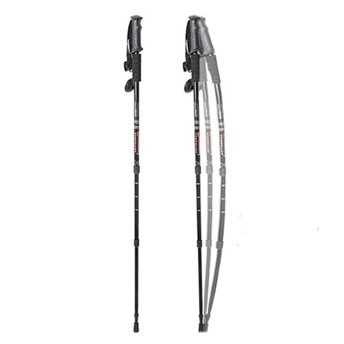 "Agptek® In Pair 3-Section 27"" To 54""(67-135Cm) Telescopic 6061 Aluminum Hiking/Walking/Trekking/Mountaineering Pole With Compass"