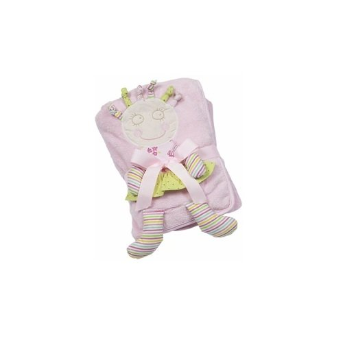 Maison Chic Crazy Doll Olivia with Doll Front Plush Blanket, Pink - 1