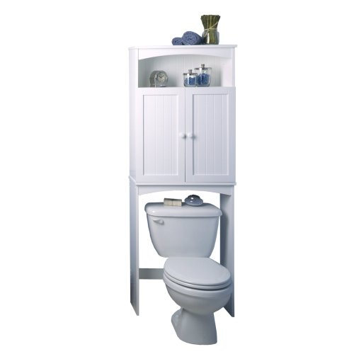 Zenith Products 9107W Country Cottage Etagere Over-the-Toilet Shelving System, White