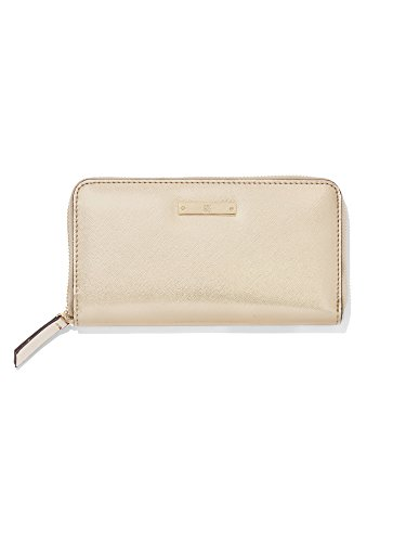 New York & Co. Women's Zip-Around Wallet 0 Gold Metallic (New York And Company Shoes compare prices)