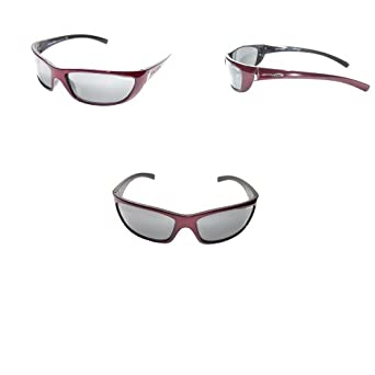 Arnette Player Italian Sunglasses 4073 369/6G Burgundy Glasses CLOSEOUT SPECIAL (369/6G - Burgundy with Grey Reflective Lens)