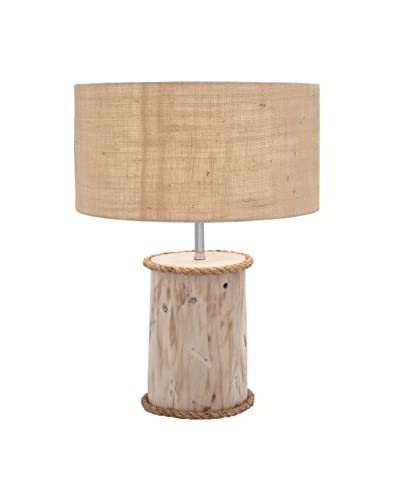 Wood Mahogany Log Lamp, Natural