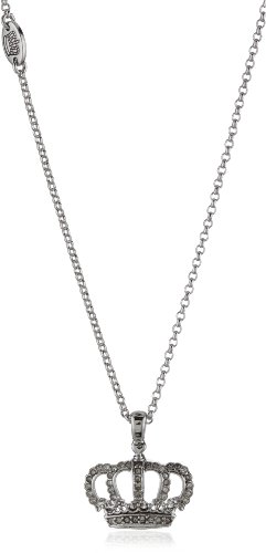 Juicy Couture Crown Wish Necklace Silver-Tone