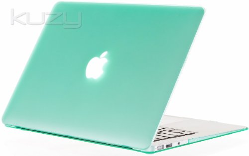 Buy  Kuzy - AIR 13-inch MINT GREEN Rubberized Hard Case Cover SeeThru for Apple MacBook Air 13.3-inch (A1369 and A1466) - Mint Green