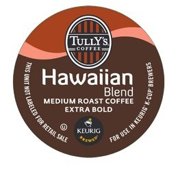 TULLY'S HAWAIIAN BLEND COFFEE K CUP 48 COUNT