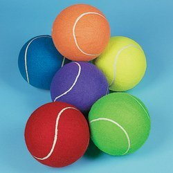 Jumbo 8 Inch Tennis Ball (Receive 1 Per Order) Assorted colors - 1