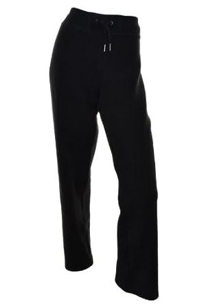 Calvin Klein Womens Fleece Lounge Pants with Elastic Waist and Tie (XXL, Black)