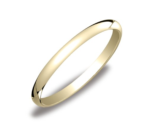 Women's 14k Yellow Gold 2mm Traditional Wedding Band Ring, Size 6