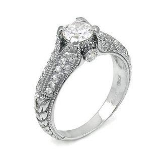 Nancey's Antique Style Diamond CZ Promise Ring - 9
