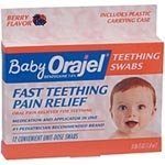 Del Pharmaceuticals A116-1744 Orajel Baby Teething Pain Swabs (Pack Of 12) front-601316
