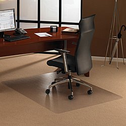 Cleartex UltiMat Polycarbonate Chair Mat for Low/Medium Pile Carpets - up to 1/2 Inch Thick, 0.09 Inch Gauge, Clear 79 x 48 Inches, (1120023ER)