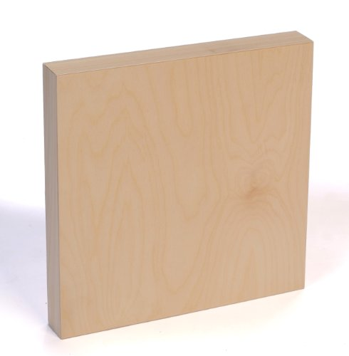 American Easel 6 Inch by 6 Inch by 1 5/8 Inch Deep Cradled Painting Panel