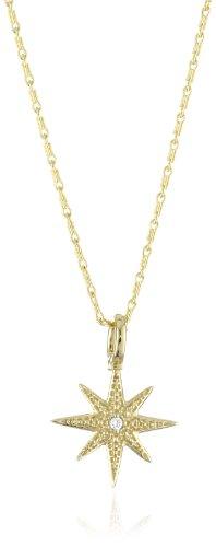 Mizuki 14k Gold and Diamond Starburst Charm Necklace