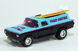"Johnny Lightning Surf Rods - Coast Busters - Tom Daniel's ""Bad News"" 1960 Chevrolet Station Wagon 1/64th"