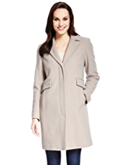 M&S Collection Wool Rich Notch Lapel Coat with Cashmere