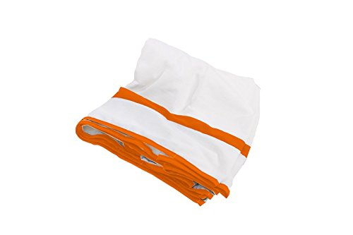 Baby Doll Modern Hotel Style Crib Dust Ruffle, Orange