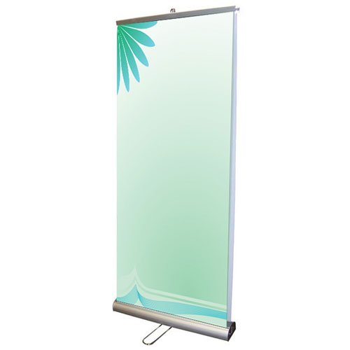 "Fantastic Displays 33"" Double Sided Retractable Banner Stand"