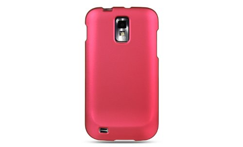 Samsung Galaxy S II / SGH-T989 - Snap-On Protector Case - Rubberized Magenta