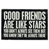 Good Friends Are Like Stars - Mailable Wooden Greeting Card for Birthdays, Anniversaries, Weddings, and Special Occasions