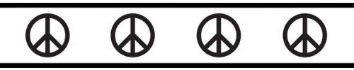 Groovy Peace Sign Baby and Kids Wall Border by Sweet Jojo Designs - 1