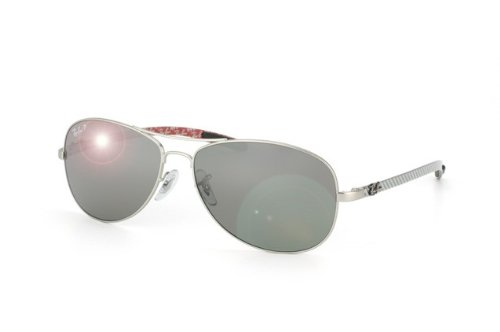 Ray Ban RB8301 Tech Sunglasses-019/N8 Silver (Polar Silv Mirror Grad Lens)-59mm