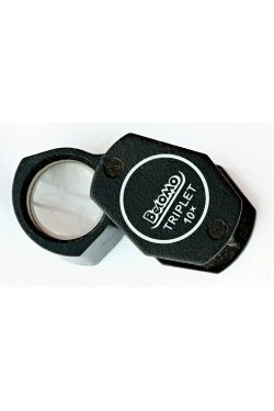 Belomo 10X Triplet Loupe Folding Magnifier, Attached Plain Lanyard With Quick Release Buckle