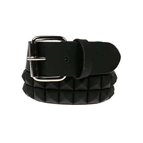 Bullet69 -  Cintura  - Donna Matt Black Pyramid L 91,44 cm-101,6 cm