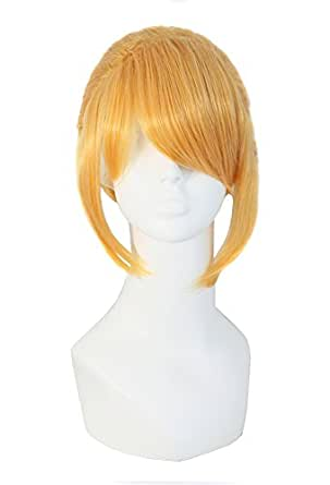 Vocaloid Kagamine LEN / REN Cosplay Yellow Short Party Wig