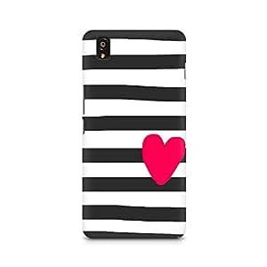 Ebby Cute Heart On Zebra Print Premium Printed Case For OnePlus X