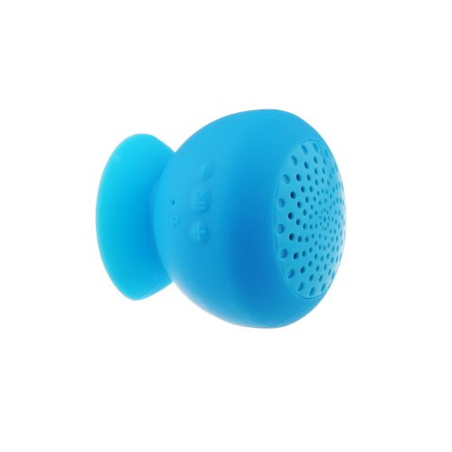 Patuoxun Portable Wireless Bluetooth Mini Mushroom Music Speakers with Suction - Mini & Rechargeable Handsfree for MP3/MP4 Player iphone 5S 5C 5 4S 4 ipad 4 3 2 ipod Samsung Galaxy S4 S3 S2 Note 3 2 Sony Xperia Z1 L39h Xperia Z Ultra XL39h HTC ONE Nexus 4 7 Cellphones Compurters Car Showers Bathroom Pool Boat Beach Outdoor - Blue