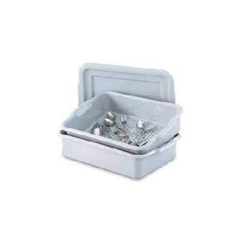 Vollrath 52619 Polyethylene Silverware Soak System, Gray back-249536