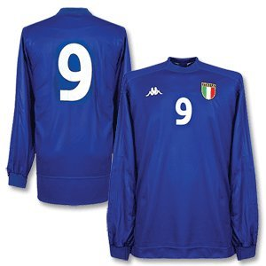 99-00 Italy Home L/S Jersey (1St Edition) + No.9 - Grade 9 - Xl