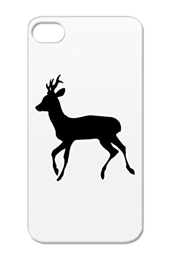 Hunter Roe Deer Animals Nature Antlers Stag Buck Hunting Wildlife Sportsman Country Forest Outdoor Tpu Reo Deer Buck Black For Iphone 4S Protective Case
