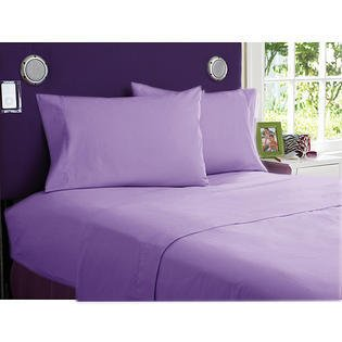 "400Tc 1Pc Fitted Sheet Olympic Queen Size With 19"" Deep Pocket In Lavender Color And Solid Pattern 100% Egyptian Cotton front-697700"