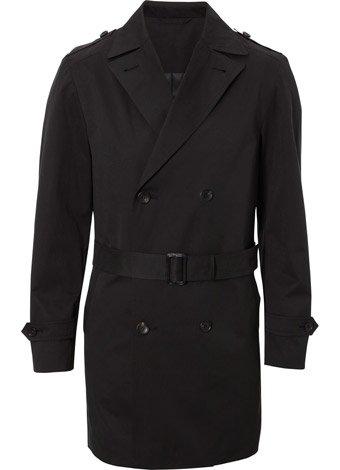Austin Reed Black Belted Raincoat REGULAR MENS 40