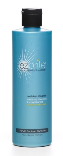 EZ Brite Glass and Ceramic Cooktop Cleaner and Conditioner, 16-Ounce Gel