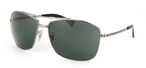 Ray-Ban 0RB3476 Square Sunglasses,Gunmetal Frame/Green Lens,One Size