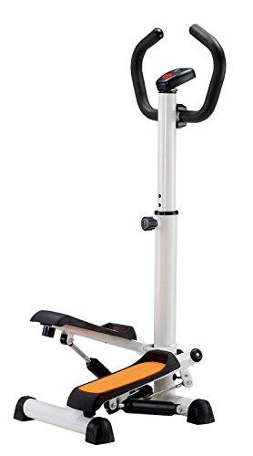 JK Fitness 5020 Stepper con Maniglie, Bianco/Arancio