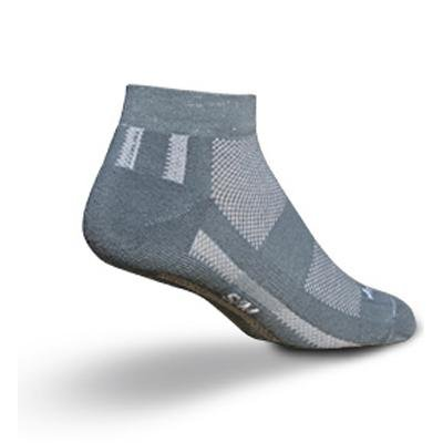 Image of SockGuy Channel Air 1in Grey Cycling/Running Socks (B001L5FFW6)