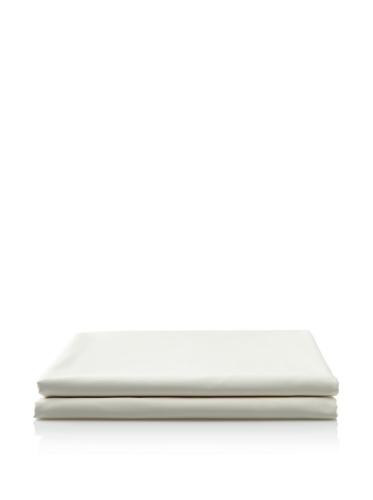 Vera Wang French Paisley Scallop Flat Sheet, Ivory/Black, King front-978167