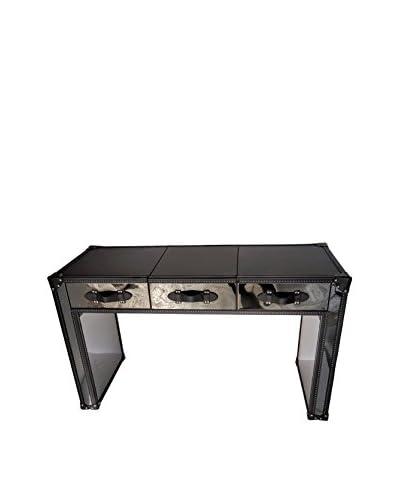 Iconic Accents Aviator Metal Desk, Black