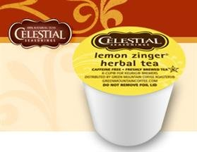Celestial Seasonings Lemon Zinger Hot Herbal Tea *1 Box Of 24 K-Cups*